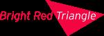bright red triangle logo